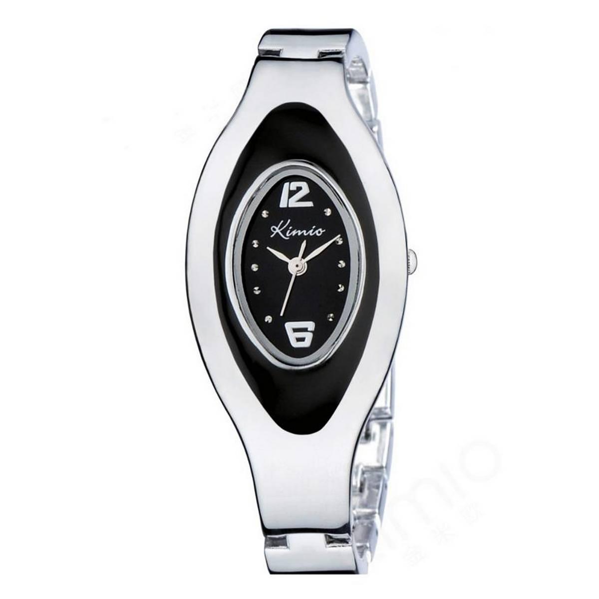 Kimio Fancy Bracelet Watch For Women - Black