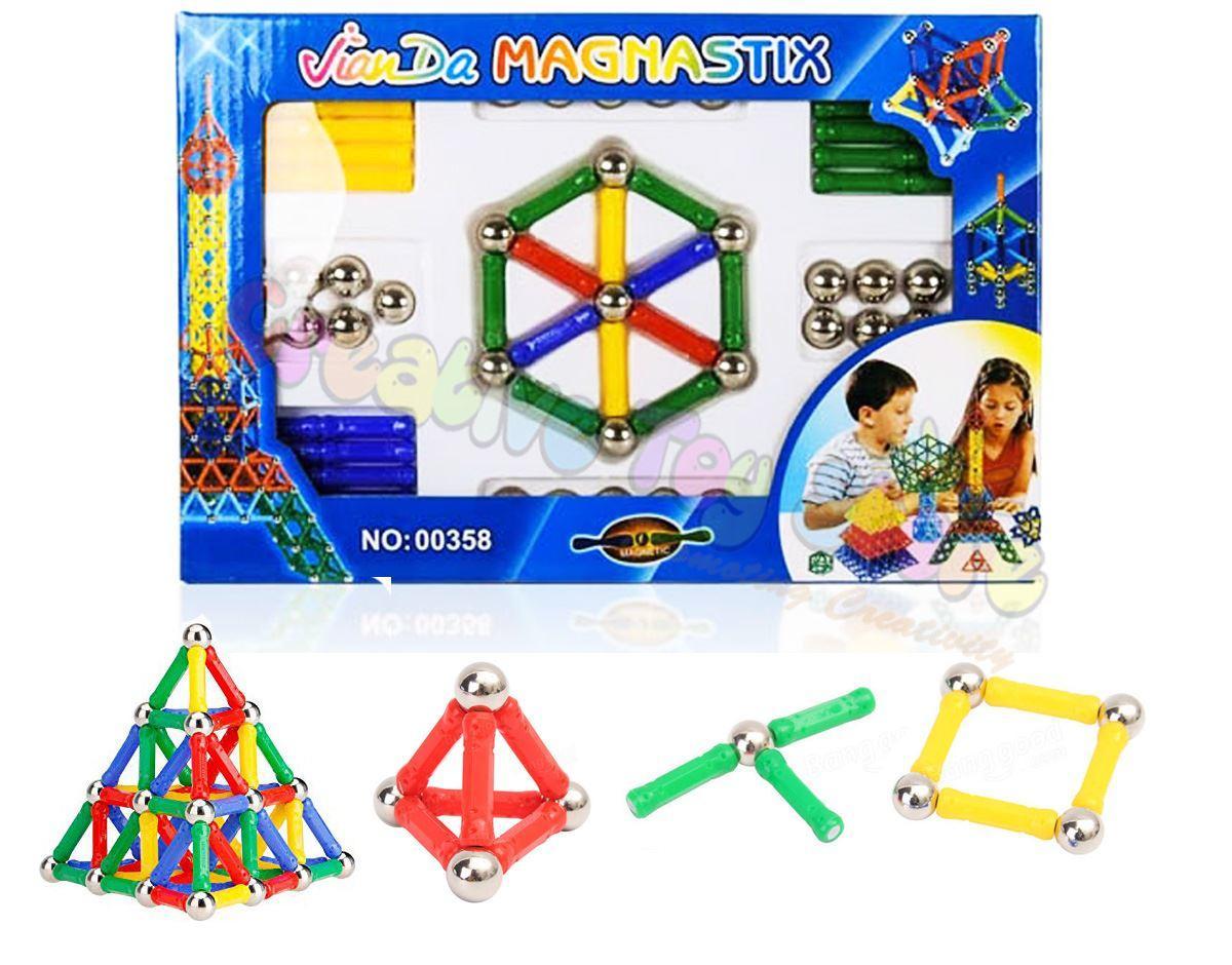 Magnetic Construction Building Block Set Toy 84 Pcs 00358