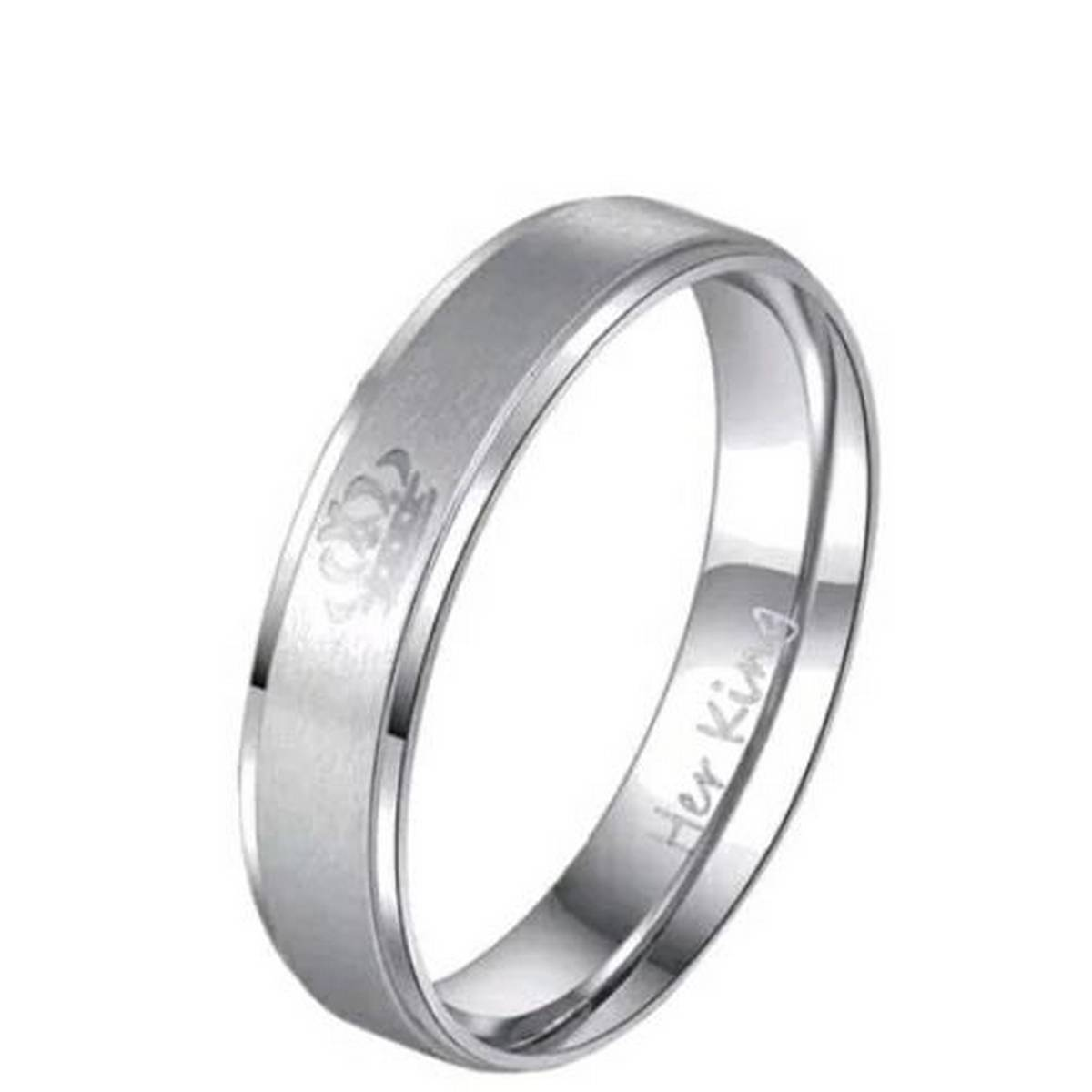 Titanium Steel Wedding Lover's Rings With Letter Pattern Fashion Anniversary Engagement Gifts