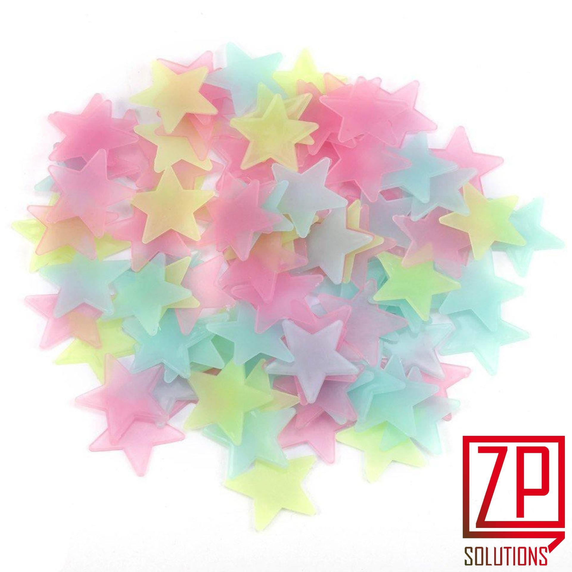 Pack of 200 - Fluorescent Night Glowing Stars Wall Sticker