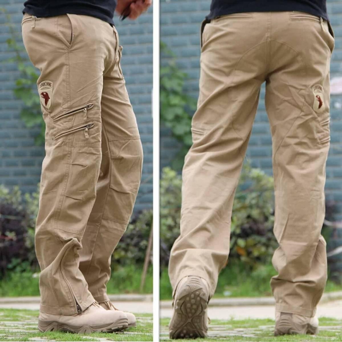Men Chino Trouser Cargo Khaki-CT-016