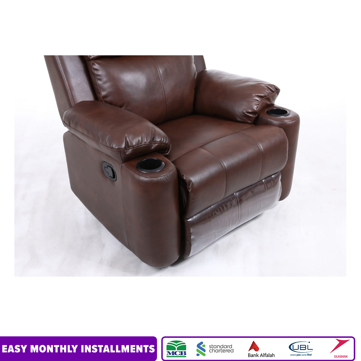 Imported Manual Recliner Sofa With Rocker and Rotational Funtions