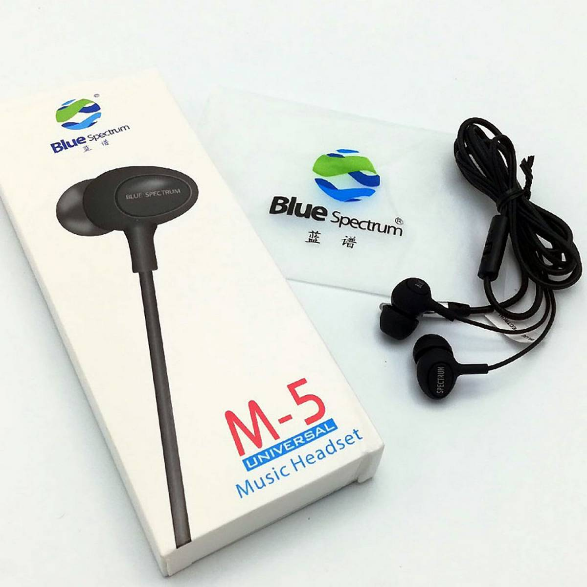 Original Blue Spectrum M5 Universal in Ear Wired HEAVY BASS Earphones Imported  HD Stereo High Quality Sound Handsfree with Mic Earbuds Music Elegant Series 360 Degree Surround Sound with Full Bass Clear Mic Best For Gaming PUBG, Music, Movies & Calling