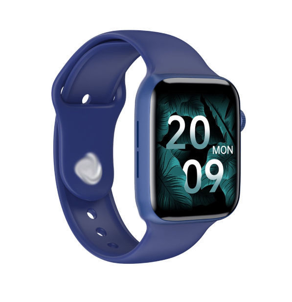 Hw22 Smart Watch 44mm Series 6 Split Screen Pin Protection Bluetooth Calling Notification Full Display Smart For Android & IOS- Black