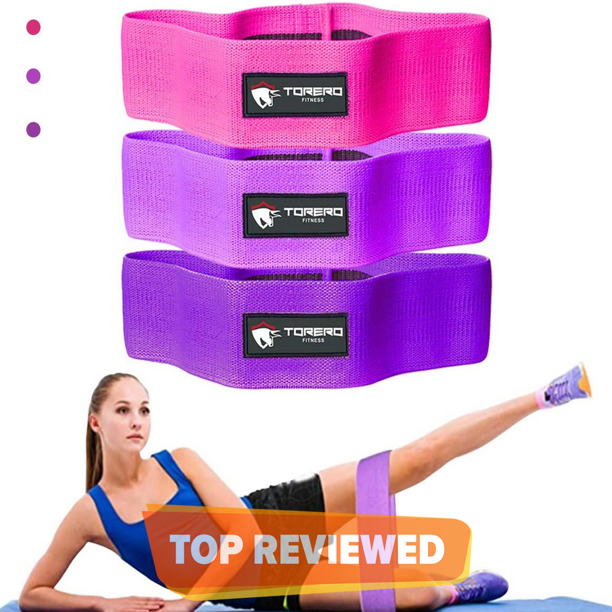 Fabric Resistance Bands- Set of 3 for Glutes, Hips and Legs Exercise, Fitness and Workout   Yoga, Squats, Dead-lifts, Pilates, Cross-fit, Physiotherapy and Recovery   Men & Women