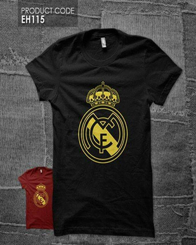 online store 47de5 c4a87 Black Real Madrid Printed T Shirt for Women
