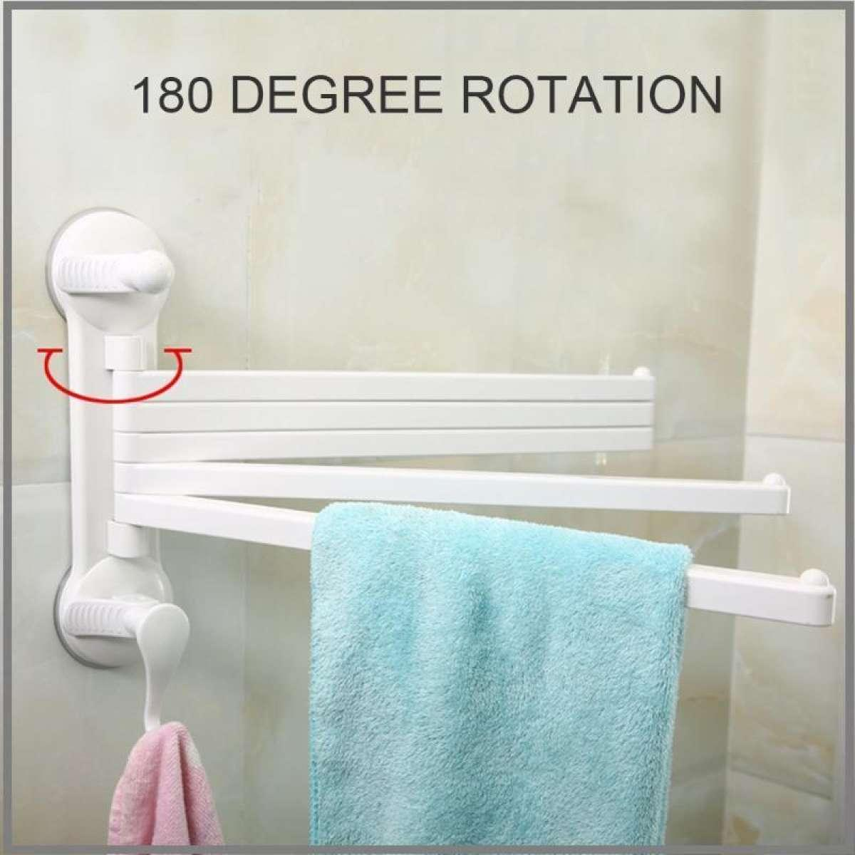 Super Bathroom Towel Bar With Hook 180 Degree Rotation 5 Layer With 1 Hook Towel Rack Holder Wall Mounted Bathroom Accessories Download Free Architecture Designs Rallybritishbridgeorg