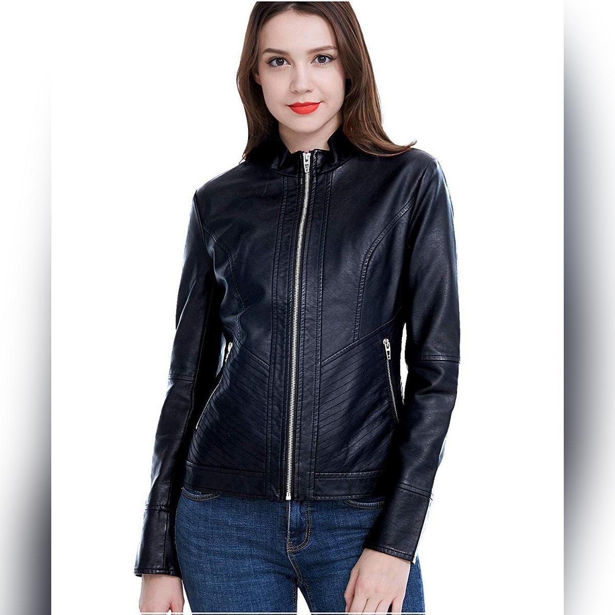 Ladies Pu Leather Jacket Women Pu Leather Jacket LL-01