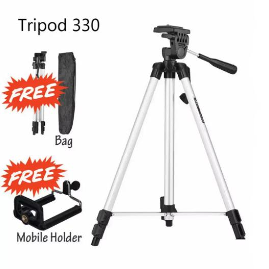 330 Tripod Holder for Mobile with Bag for Digital Slr & Video Cameras