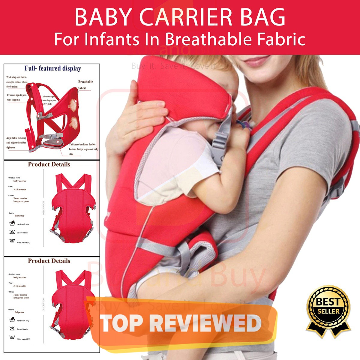 Baby Carrier - Red