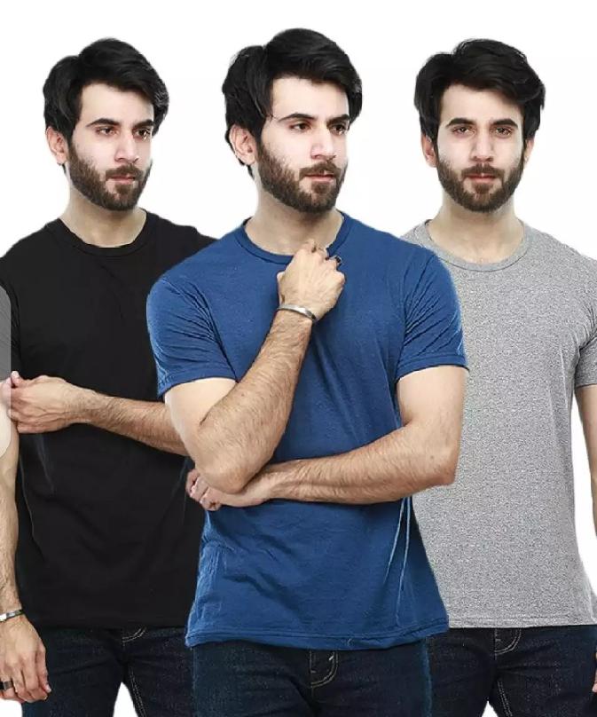 The Vzintage Clothing pack of 3 plain basic T shirt