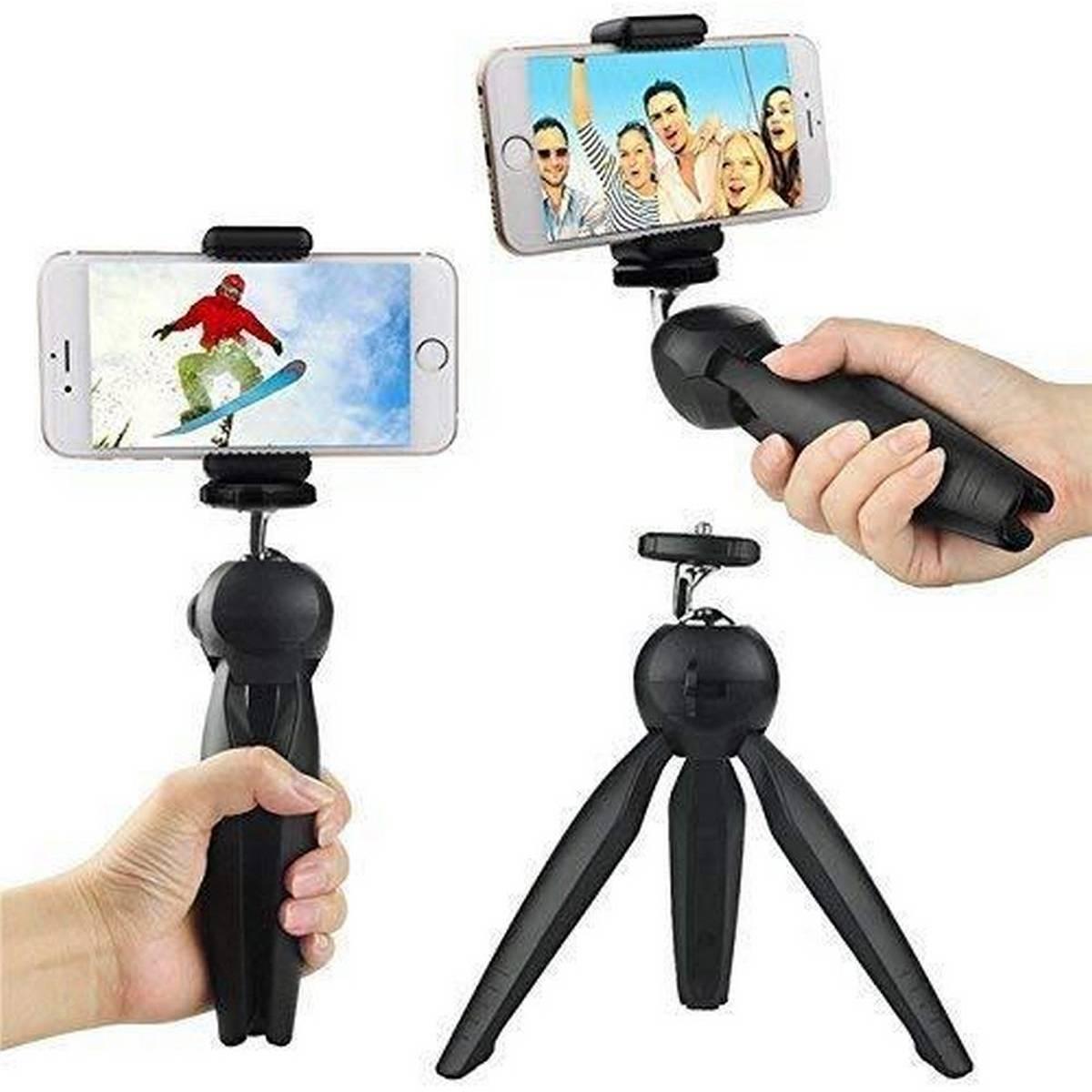 Mini Tripod - Yunteng Mini Tripod Stand For All Mobile Phones & Digital Cameras - Black