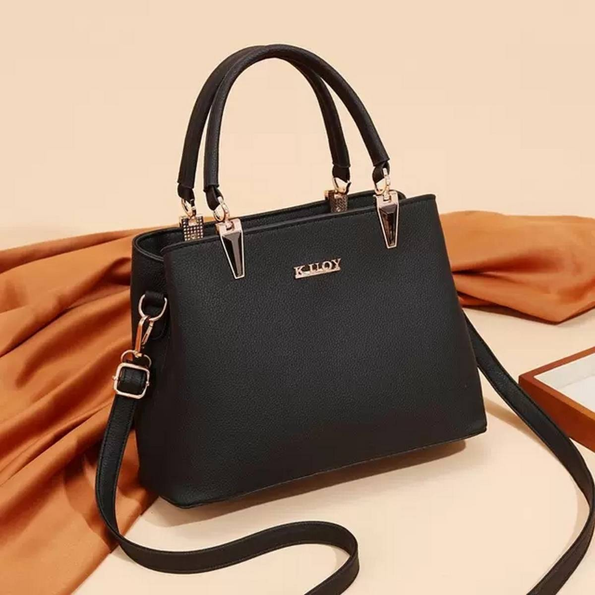 PU Faux Leather Tote Shoulder Bag For Women - Handbags for Woman - Ladies Hand Bags for Girls - Girls Bags - Party Bags