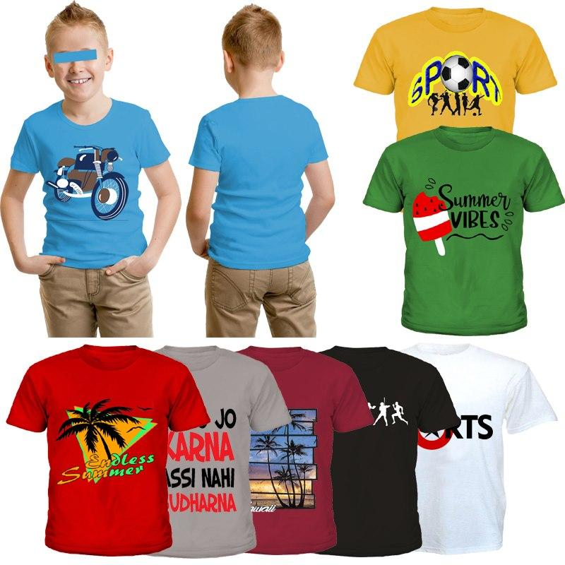 Bindas Collection 3 pcs Random Printed T-shirts For Kids (Clearance Sale)