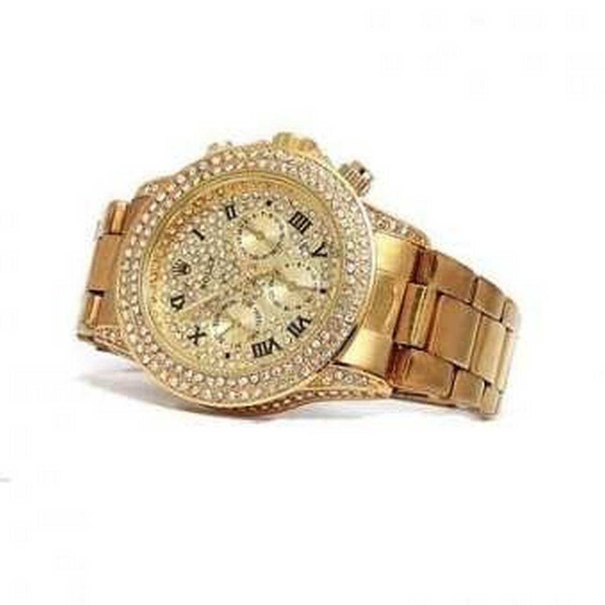 Golden Chrnometer Watch For Men
