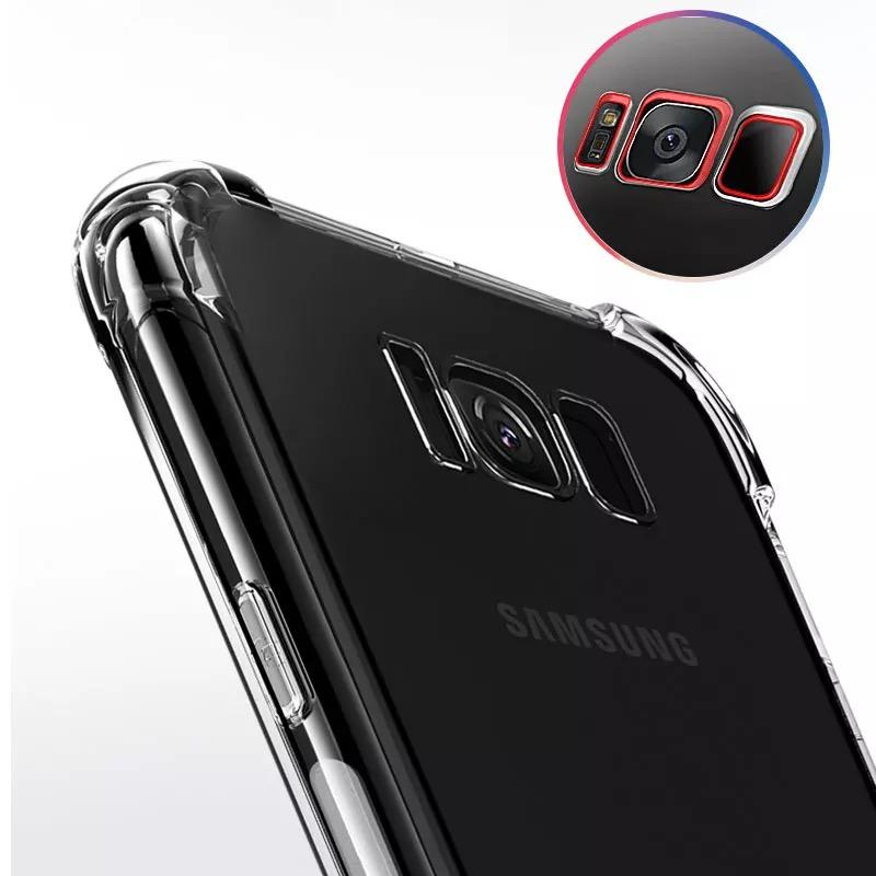 Samsung S8 Plus Corner TPU Transparent Airbag Soft Silicon Back Case Cover With Shockproof TPU Four Corner Ultimate Edge Protection Cushioned Edge Design Bumper Shell Case Cover