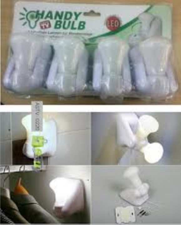 New Style Light Bulb Stick Up Battery Operated Night Handy Cabinet Closet Lamp Alquraish