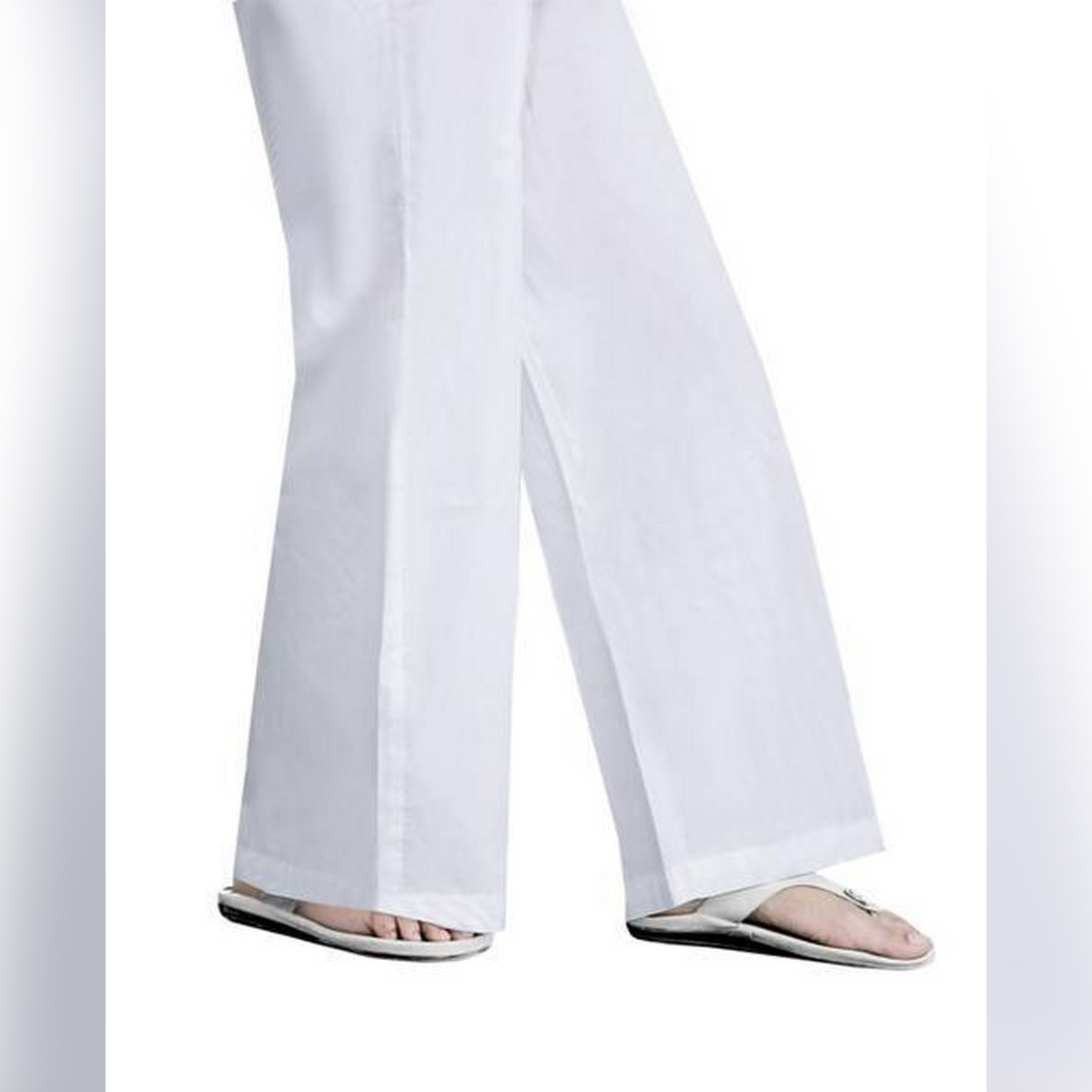 Khas Stores Winter Collection WHITE Cotton Polyester Medium 1 PC Stitched Trouser - 1000000021047
