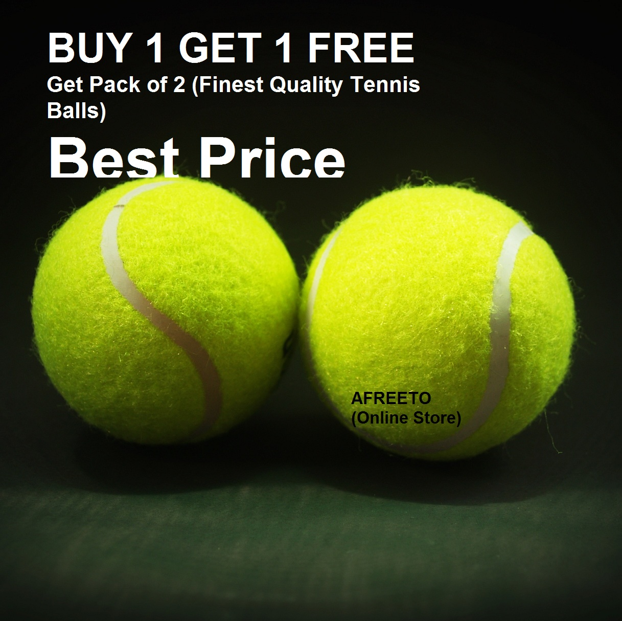 Tennis Ball Pack of 2 Durable Practice Ball for Cricket & tennis. Professional Rubber tennis balls