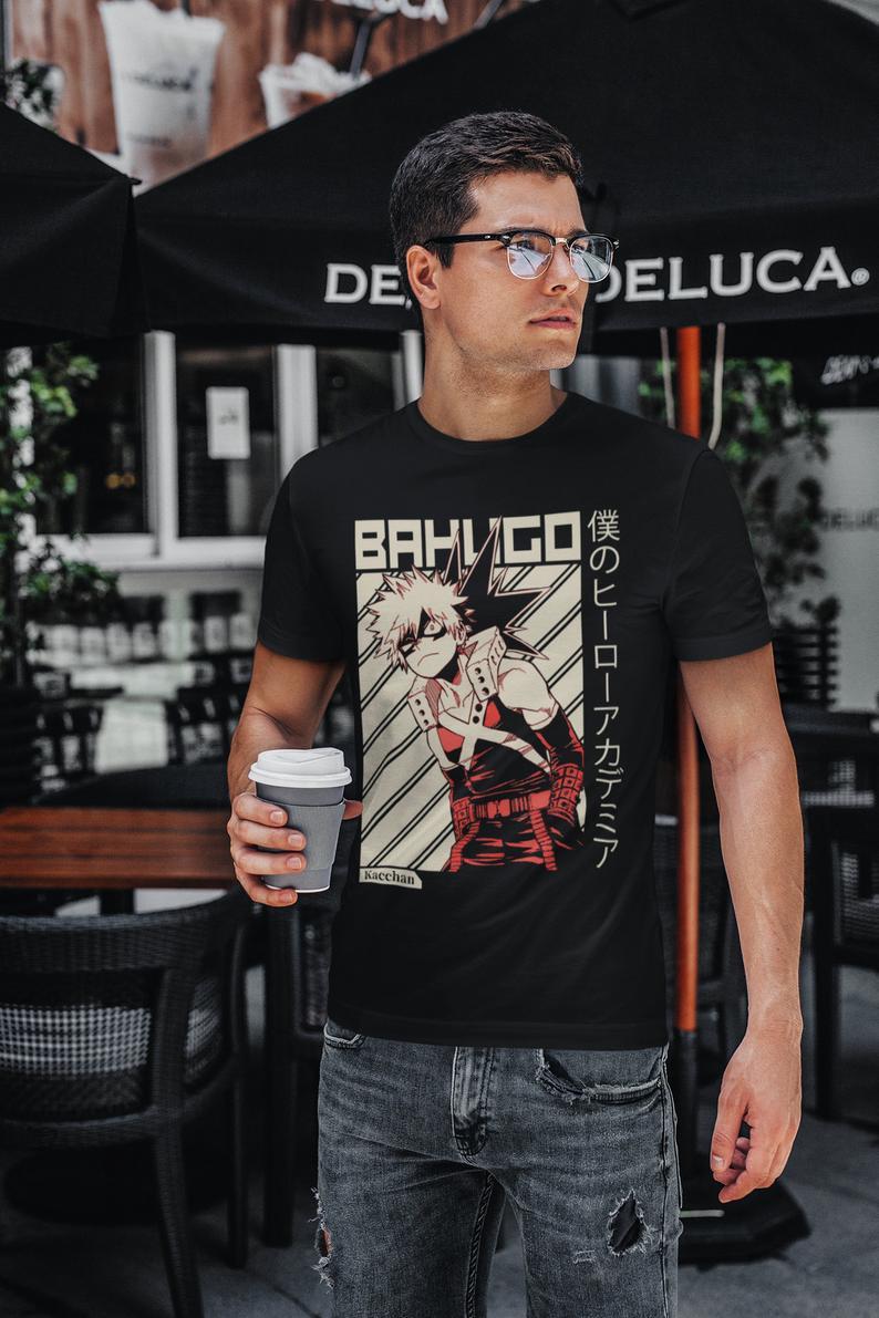 Bakugo Katsuki T-shirt, My Hero Academia Shirt, Boku No Hero Academia T-shirts Fo Men