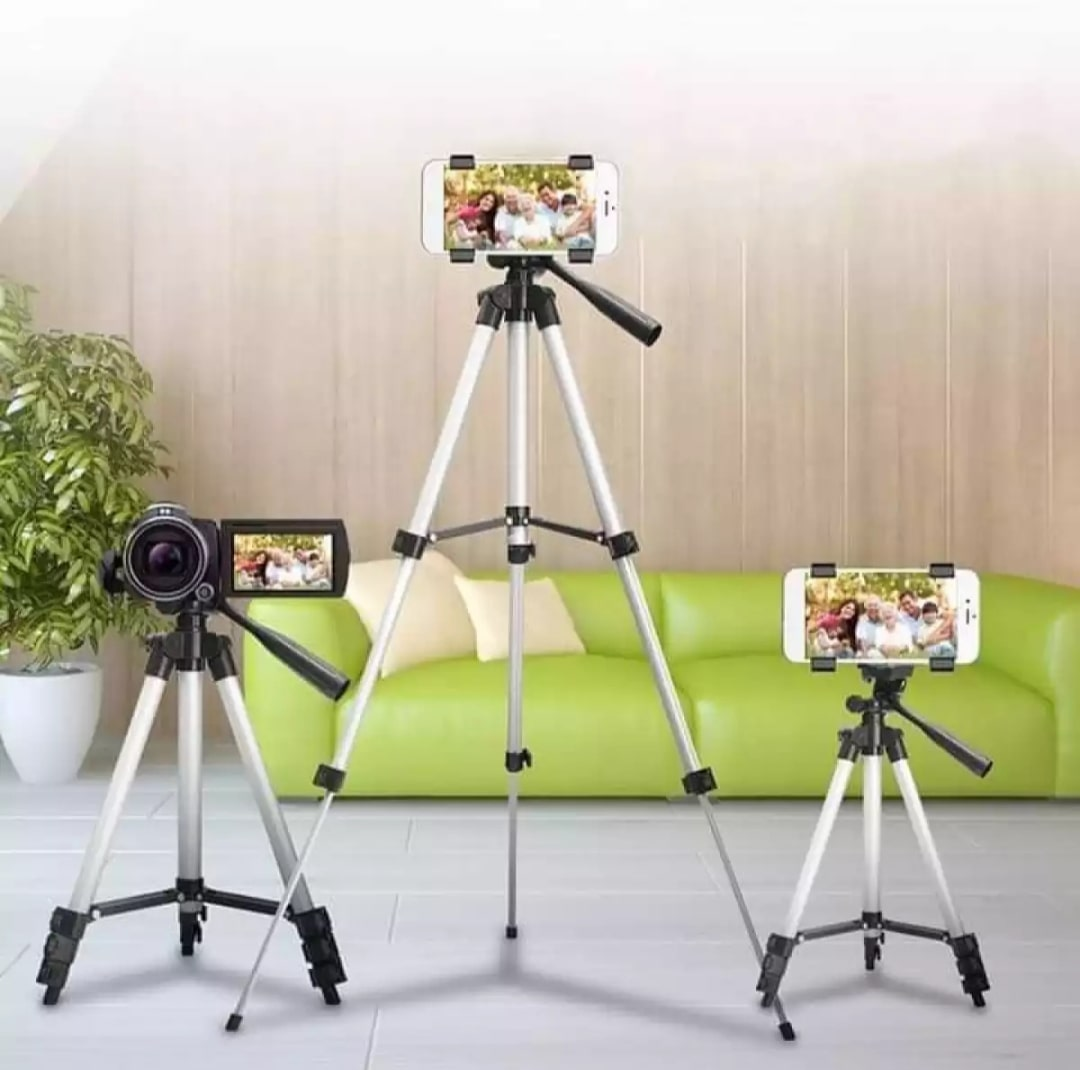 Evolve 3110 Big Tripod 3.5ft Feet Mobile Stand For Mobile And Digital Camera Video Capturing