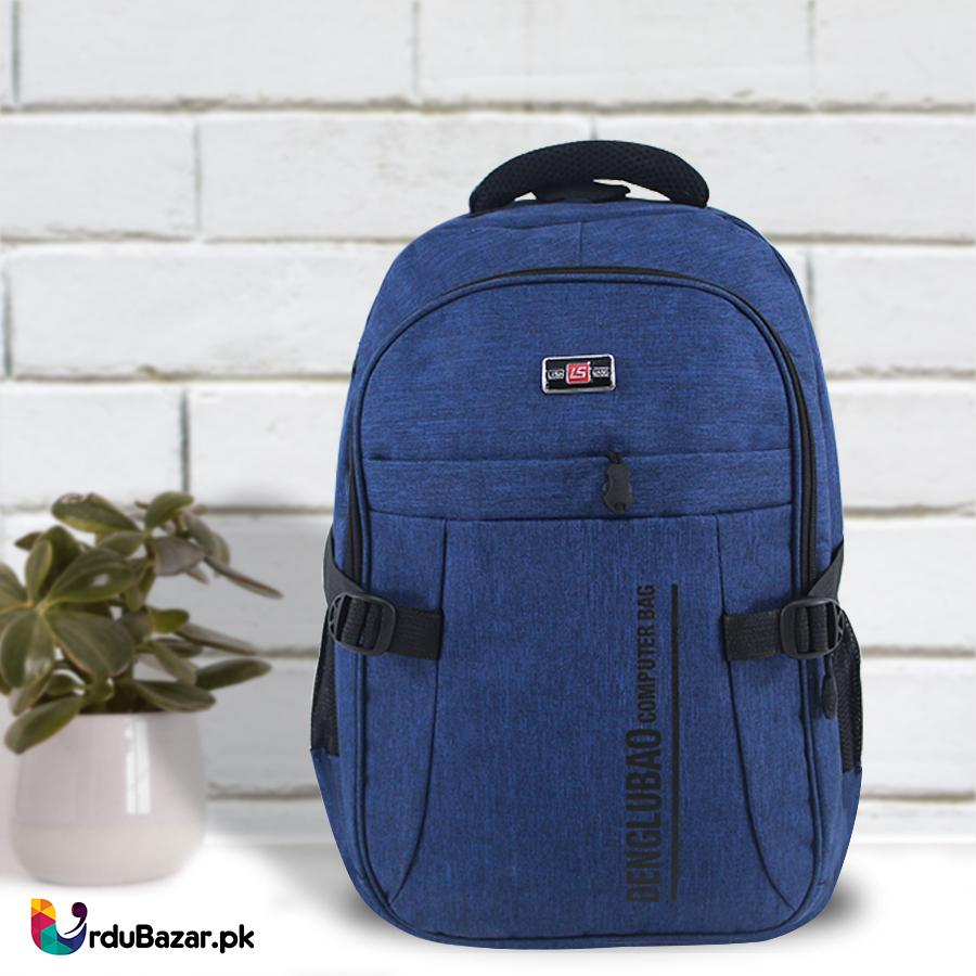 6809bacadf03 DENGLUBAO Computer Blue Bag - 5 Pockets Mens Backpack   15