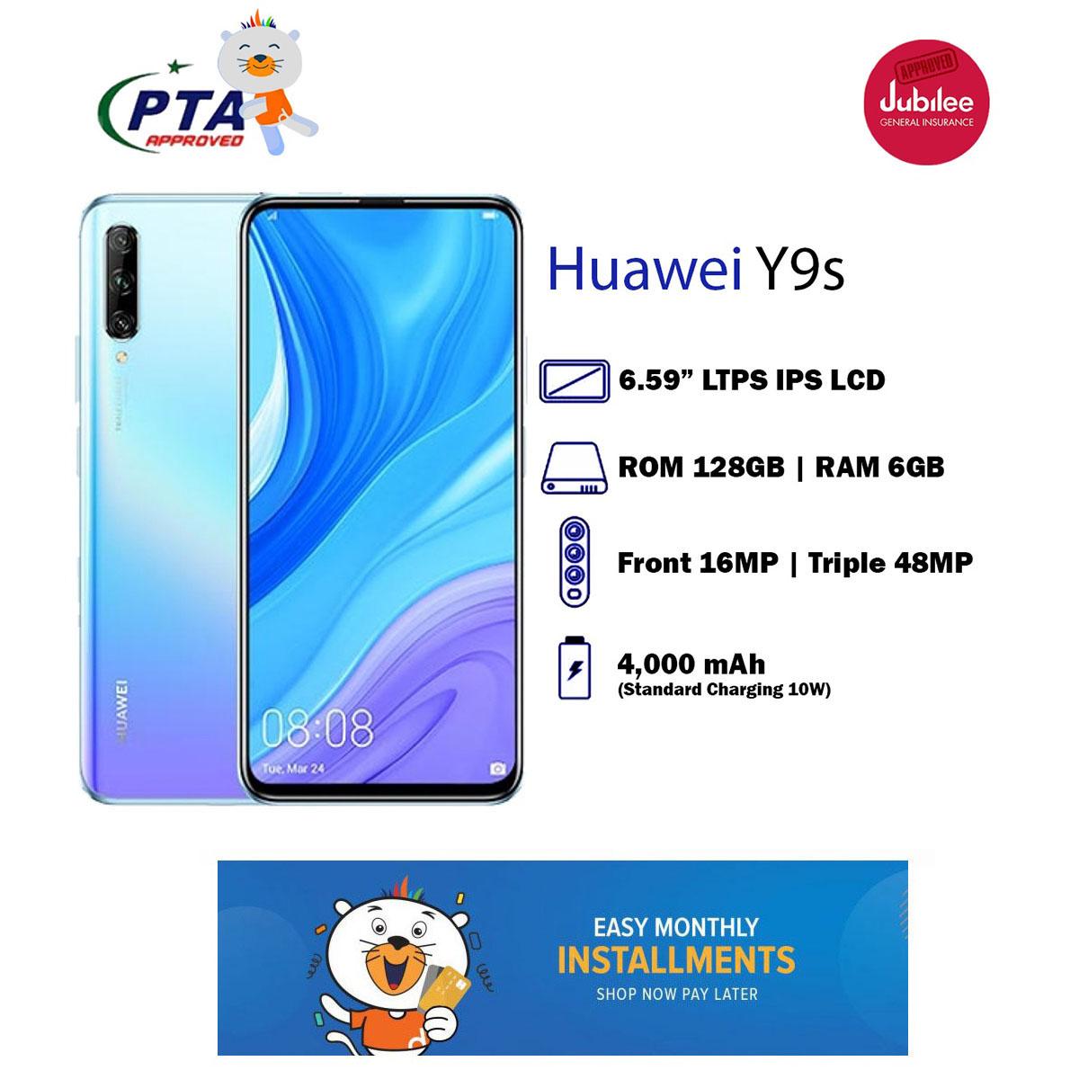 Huawei Y9s 48 Mp Triple Ai Camera 6.59 Fhd+ Display 6 Gb + 128 Gb Rom