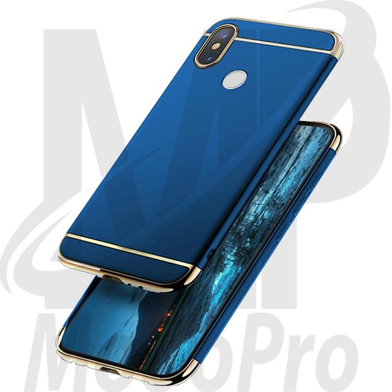 a5750733d53d9d Xiaomi Mi A2 Ultra Thin Electroplating 3 Piece Full Protection Cover Blue