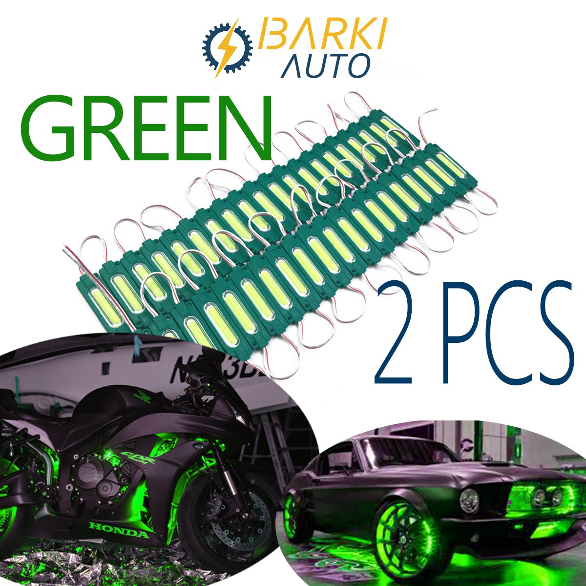 2 pcs 12v Fancy LED Light Very Bright Colourful light for Decoration and Lighting for car and bike