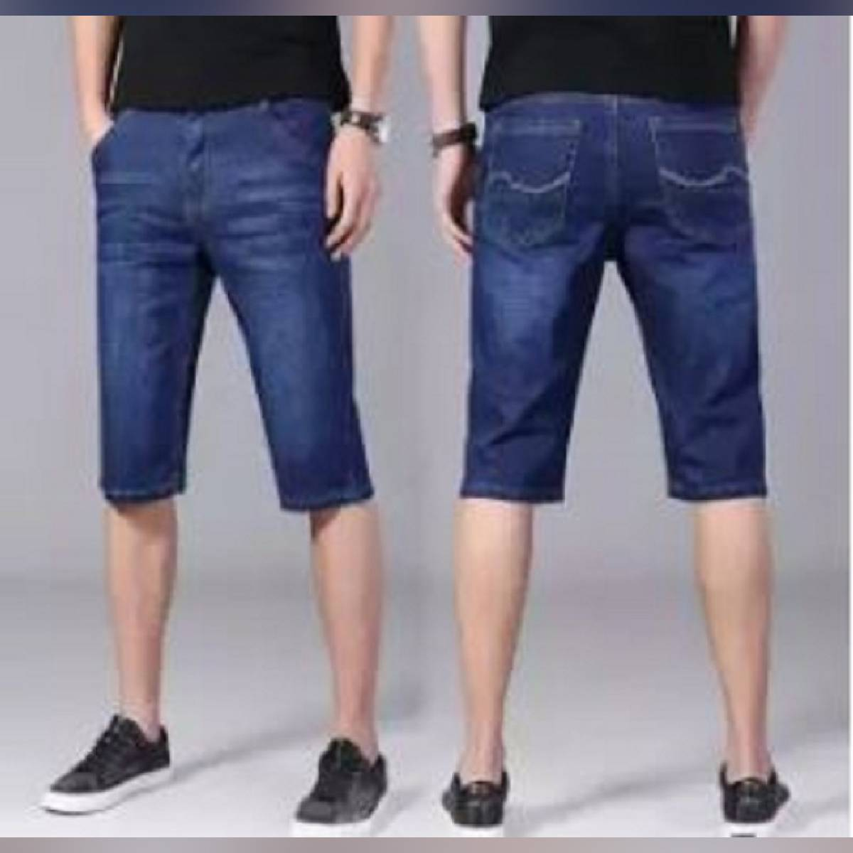 new style denim shorts for man_ summer collection export Quality Denim jeans simple versatile_slim and stylish causal_elastic shorts