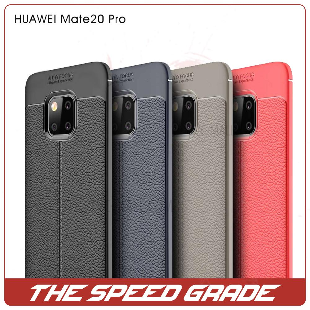 Huawei Mate 20 Pro Litchi Pattern Soft Silicon Back Cover
