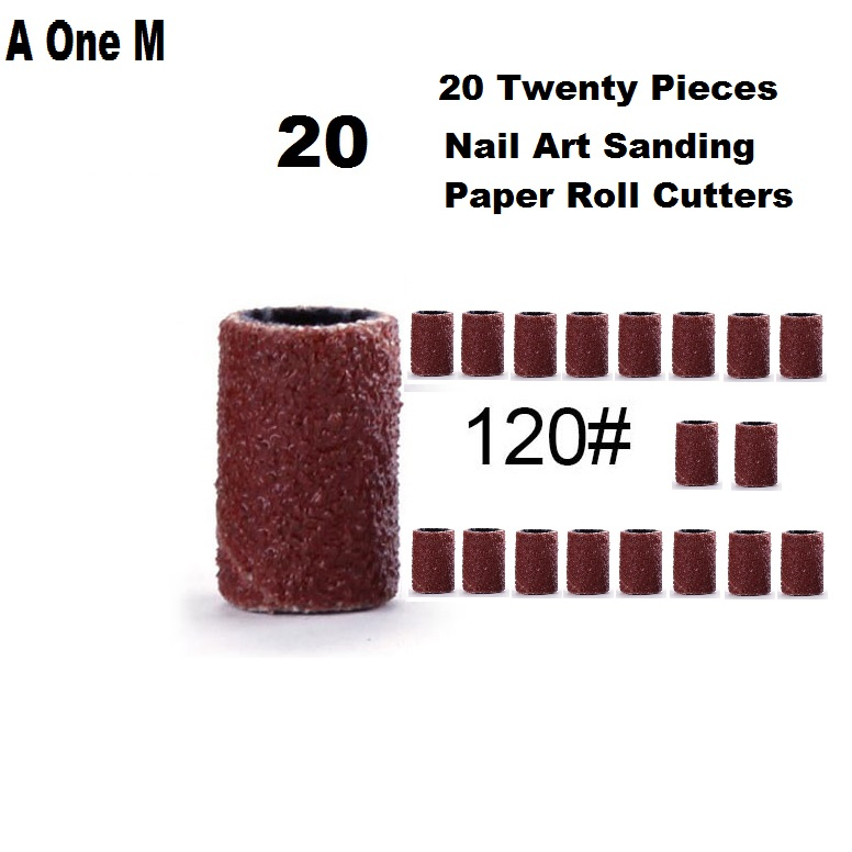 Nail Art Sanding Paper Roll Cutters For Manicure Removing Gel Nail Electric Drill Grinding Sand Ring Bit Polishing Sets  120#