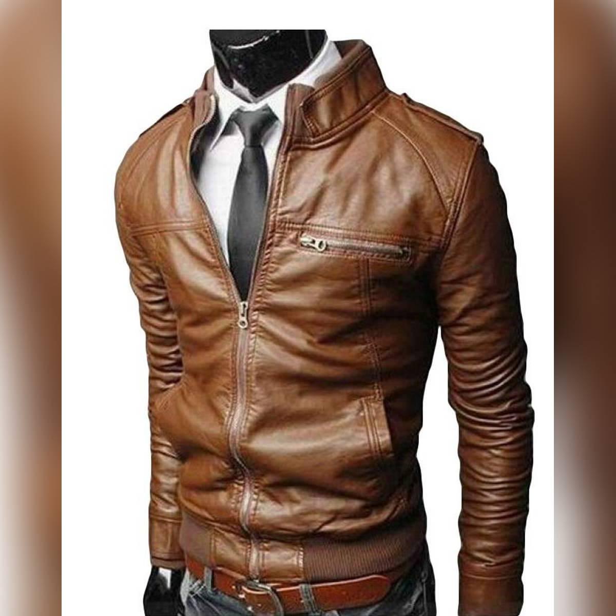 Mustard Leather Jacket For Men