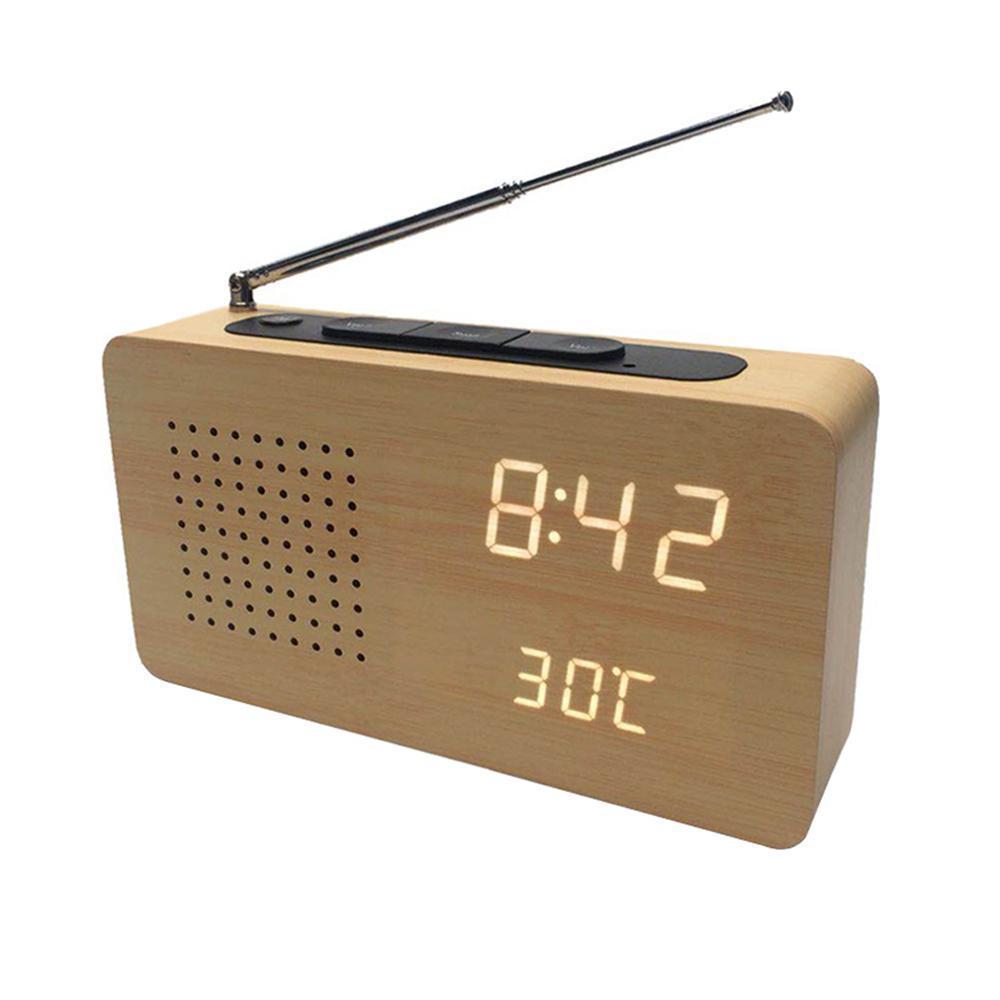 New Multi-Function Radio Simple Luminous Alarm Clock,Led Digital Clock  Creative Gift Radio Home Decoration Electronic Clock(18 5x6 3x11 5cm)