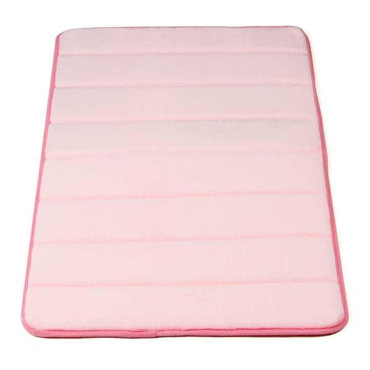 Memory Foam Bath Bathroom Bedroom Floor Shower Mat Rug Non-slip Water Absorbent Pink
