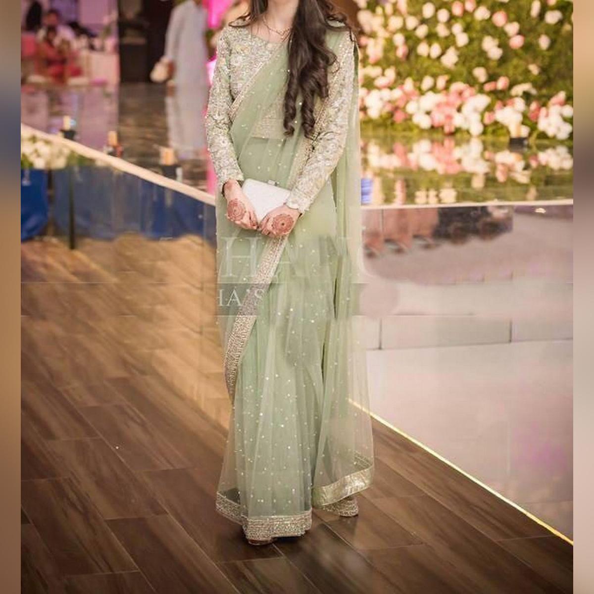 New Bridal Net Saree For Women