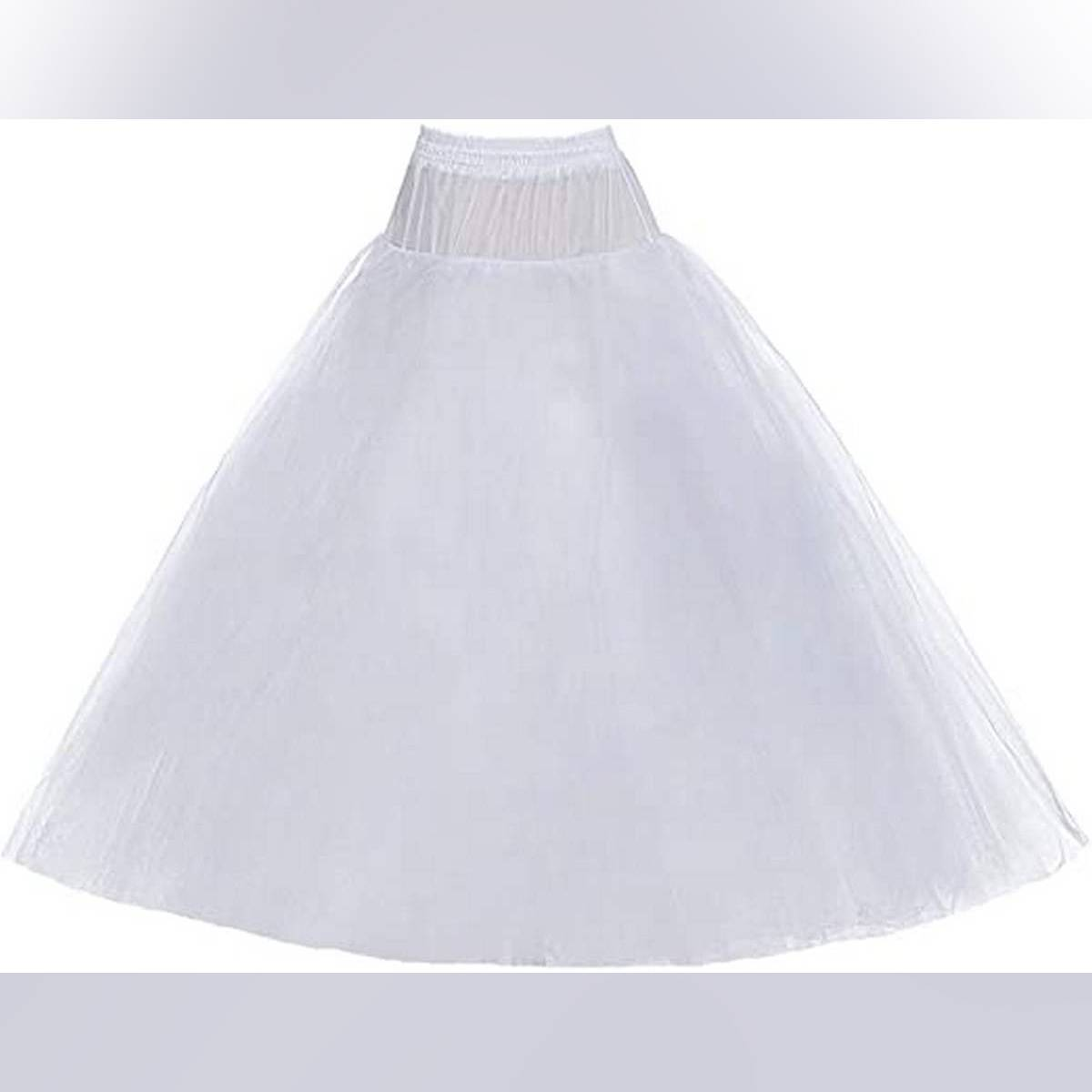 Stitched 4 Layers can can under skirt for lehnga -Length 40-Gear 110 inches-(white)