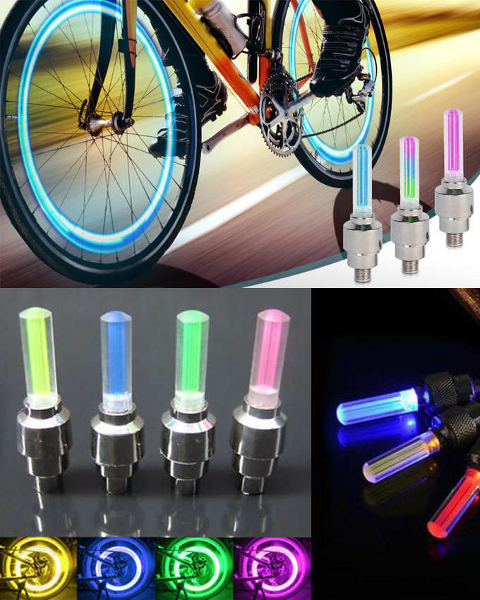 LED Flash light Tire For Valve Cap, for Car Bicycle Motorcycle Random Colour
