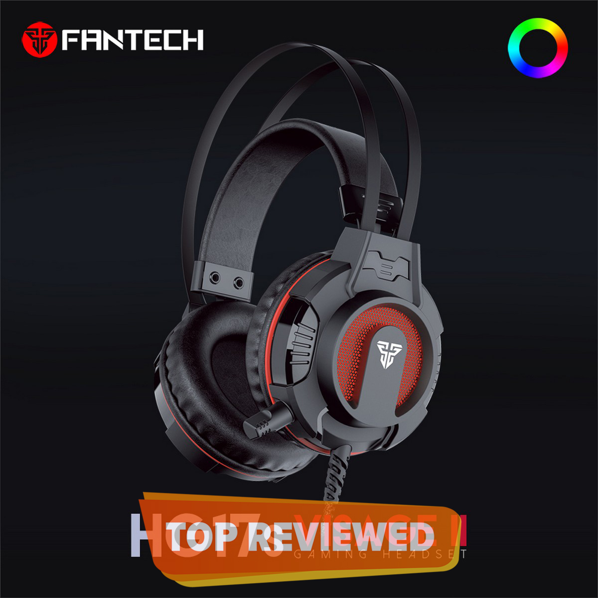 FANTECH HG17 Visage II Surround Sound RGB Gaming Headphone With Noise Cancelling Microphone