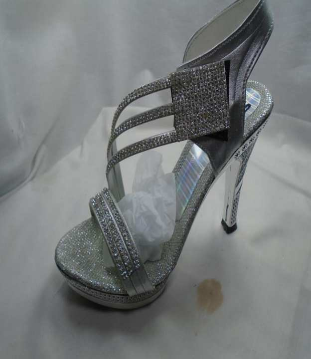 Silver Color Synthetic Fancy Heels  Strppy Sandal For Women - 411-51160