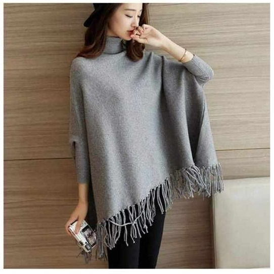 WPM (Any 01 Random Color) Designer Winter Plain Poncho / Upper / Sweater for Women / Ladies (Be in Style / Bring your Style - Party Fashion 2020 / Year End Sale) Limited Time Offer Sale / Limited Stock