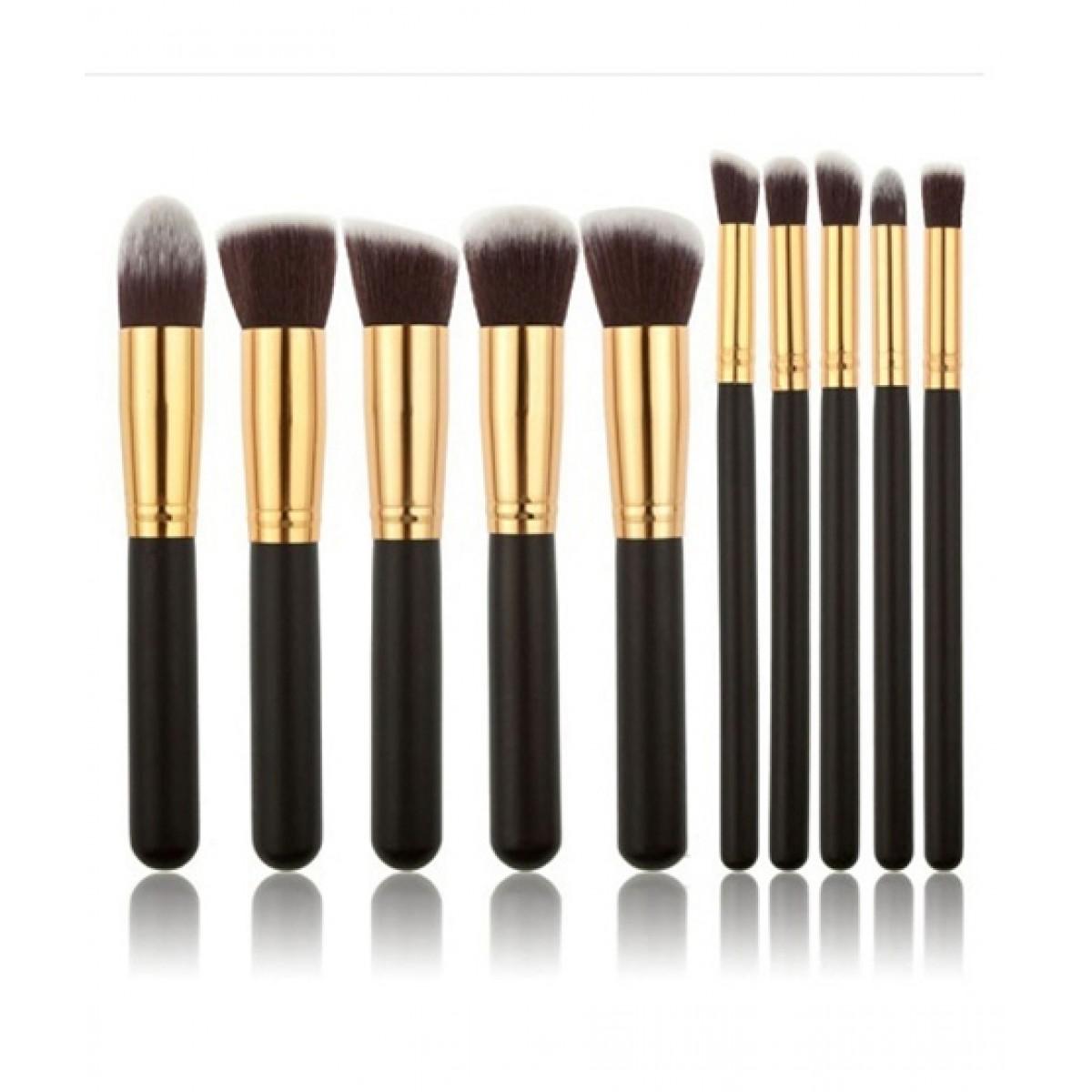Pack of 10 Makeup Brushes Set Beautiful & Soft Hair for Ladies & Girls Make up Brushes Tool 10 Pcs