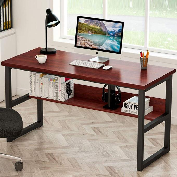 Office Table Desktop Table With Book Shelf Office Desk Book Shelf Laptop Table Computer Table Study Table Writing Table Home Table 48