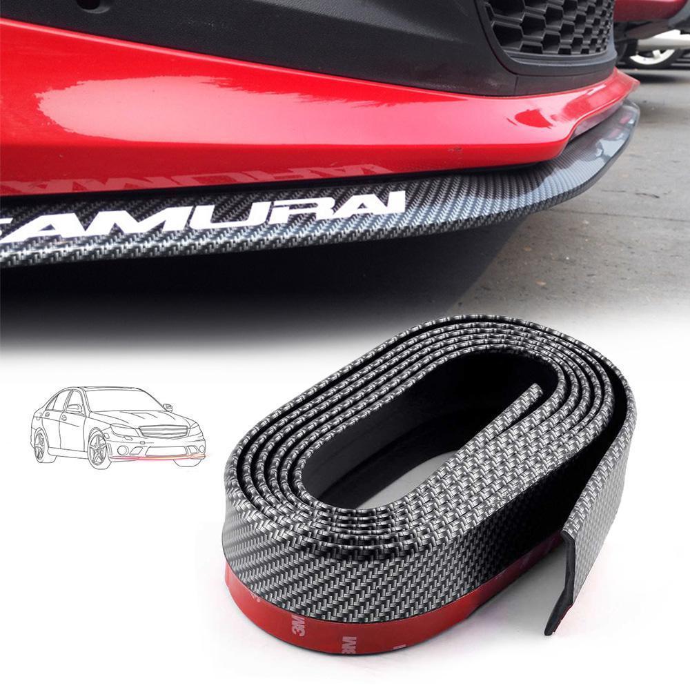 DIY Front Bumper Lip Spoiler Rubber Side Skirt Carbon Fiber For Car Universal Auto Parts and Vehicles Car & Truck Exterior Parts