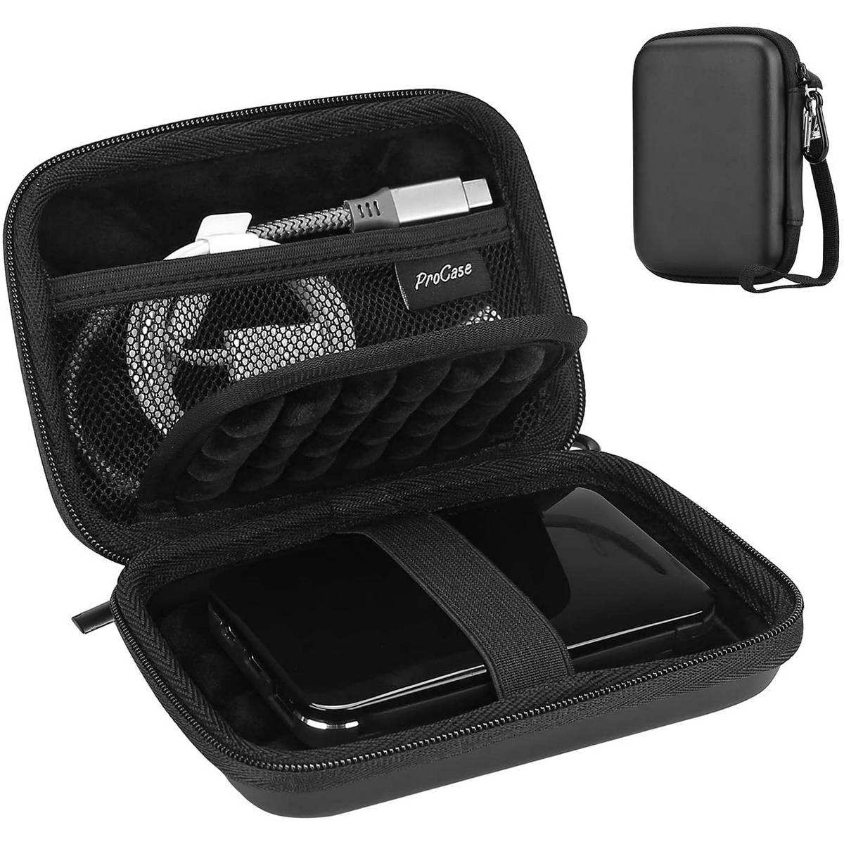 """Zipper Case Bag Pouch Protection For 2.5"""" WD Seagate HDD Hard Disk Drive Black"""