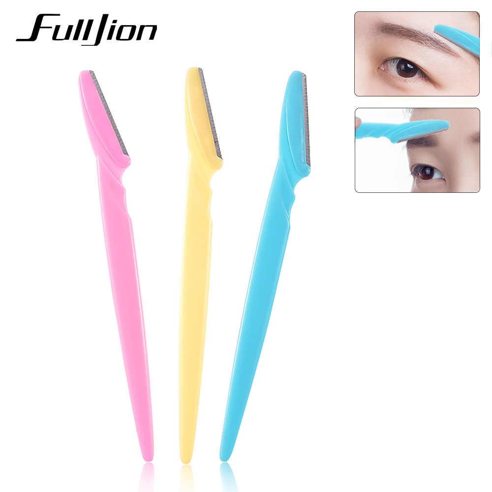 Fulljion 3Pcs/Set Women Eyebrow Razor Facial Hair Remover Eyebrow Trimmer Eye Brow Shaver Makeup Knife Face Care Hair Removal