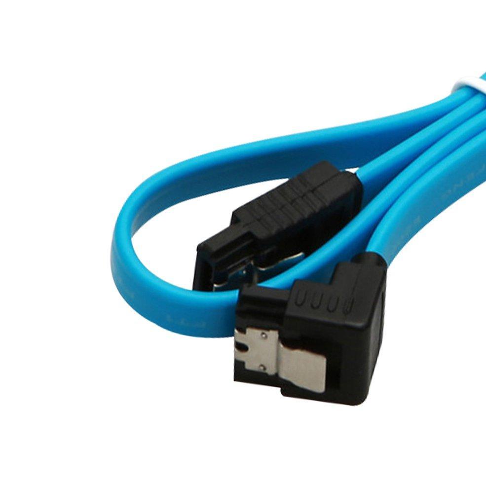 "5 X 18/"" SATA 3.0 Cable SATA3 III 6GB//s Right Angle 90-Degree For HDD Hard Drives"