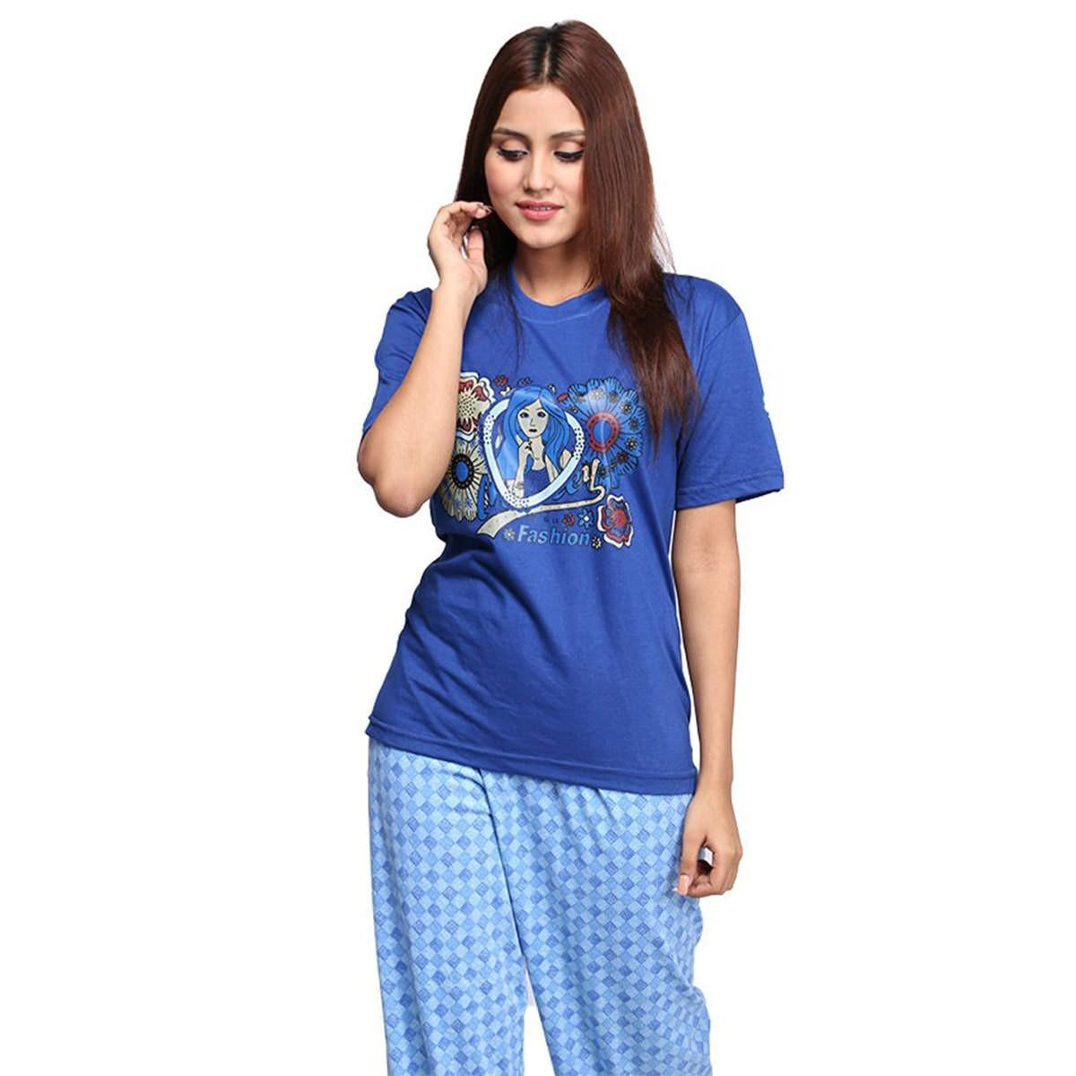 04ca861491 Stylish and attractive Women Night Wear Trousers with T-Shirts - Ladies  Night Wear Trousers