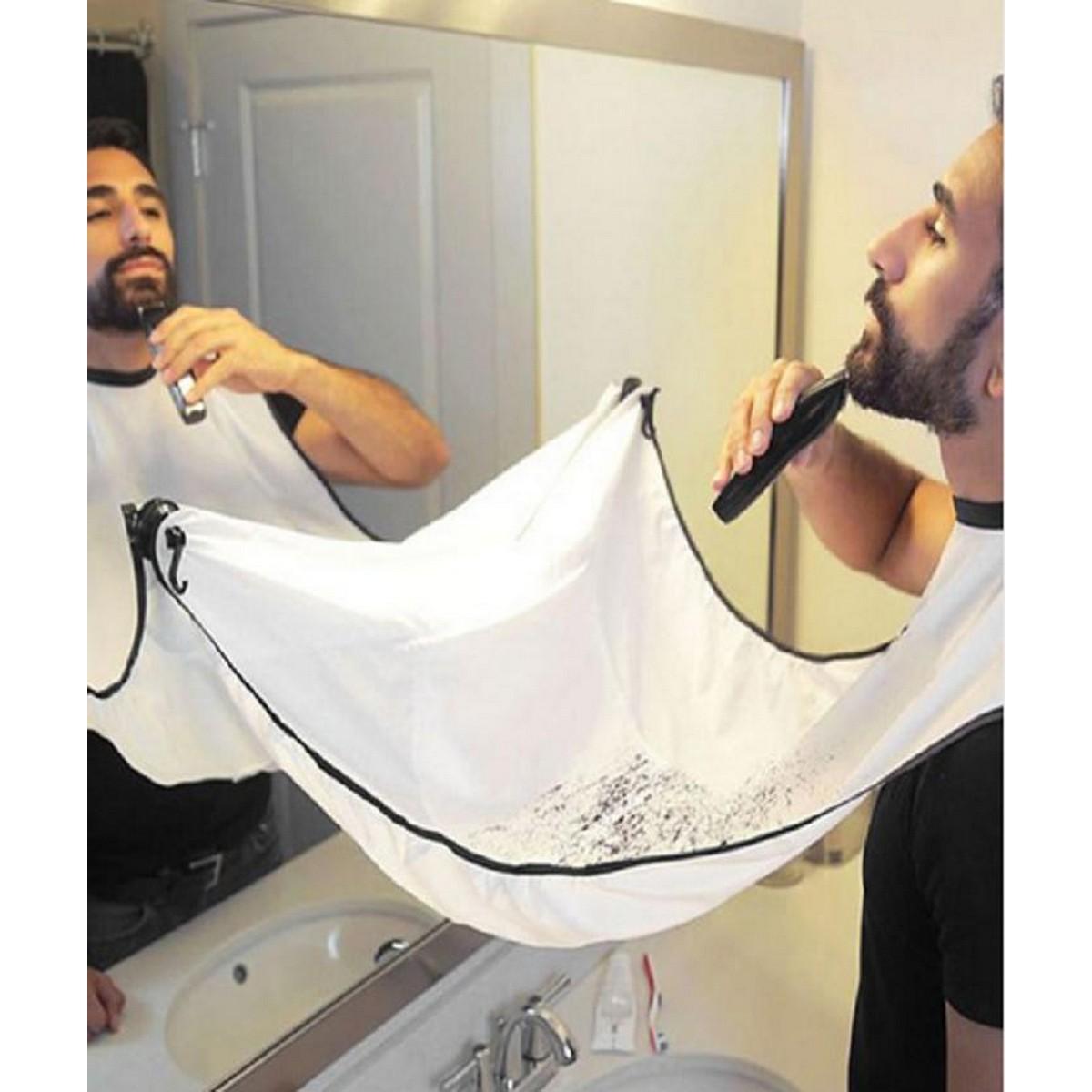 1pcs Male Beard Apron Shaving Aprons Beard Care Clean Catcher New Year Gift Father Boyfriend Brother Bib Trimmer Facial 120x80cm