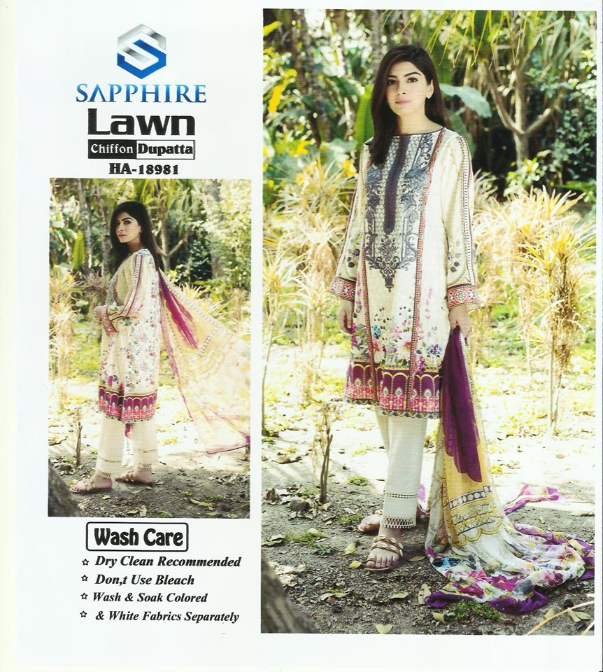 Unstitched Fabric Summer Collection 3 Piece Lawn Suit With Dupatta And Trouser For Women